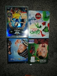 Home alone 2 and The Grinch DVD cases