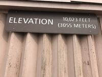 Elevation 10023 feet sign for sale