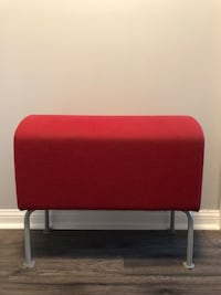 Red and gray fabric padded bench Toronto