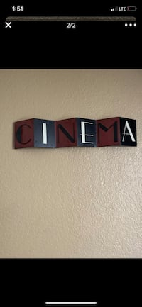 Metal cinema wall decor/ exit sign
