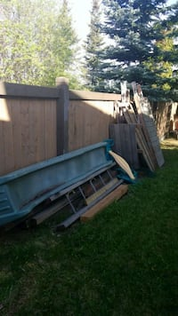 Free wooden play set. Pick up only.  Edmonton, T6R 2B1