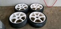 4 19in 4x100  4x114.3 wheels rims rines tires  white   Montgomery Village, 20886