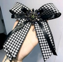 Ribbon Rhinestone Bow Brooch