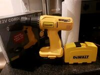yellow and black DeWalt cordless power drill Toronto, M4C 4Z4