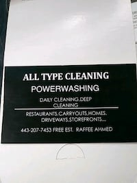 All type cleaning and power-washing Baltimore, 21215