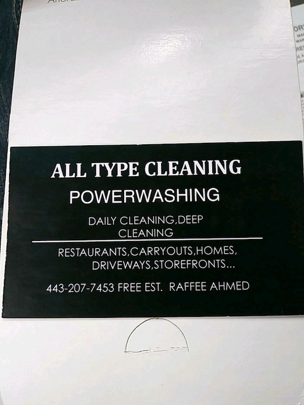 All type cleaning and power-washing