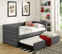 Brand New✔ Gray Color Twin Size Daybed with Trundle Jessup, 20794