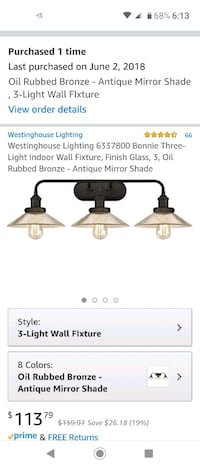 Bathroom light fixture and sconce