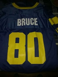 blue and yellow bruce 80 jersey Willis, 77378