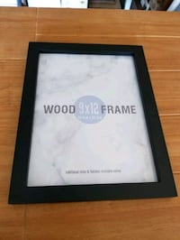 Black Wood Picture Frame 9x12