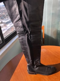 Knee high leather boot