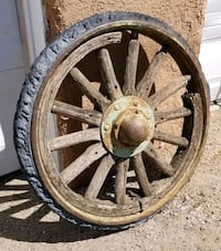 Antique Wheel with Rubber