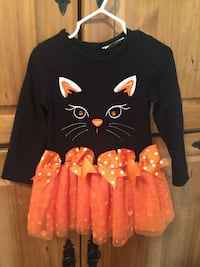 Like New, Worn Once, Rare Editions Girls 2T Cat Face Tutu Dress, Size Tag Removed From Back London, 40741