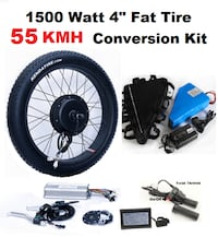 1500 watt fast ebike converson kit PANASONIC battery Vancouver