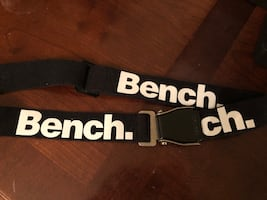 Black and white bench belt