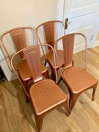 Set of copper chairs Baltimore