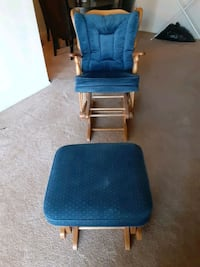 Full Set Wooden Blue Rocking Chair District of Columbia