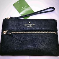 NWT. KATE SPADE BEE COBBLE HILL WRISTLET- BLACK    Bethesda, 20814