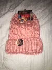 "NWT Sole Trends Pink ""Heat Zone"" Thermal Beanie Pasadena, 21122"