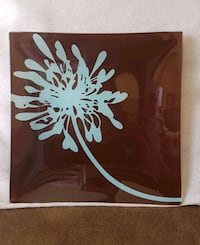 Glass decor plate