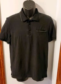 Calvin Klein Solid Black Polo With Pocket  Slim Fit Middletown, 21769