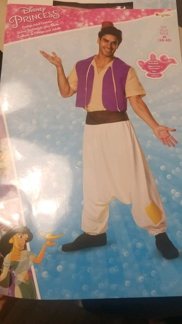 Disney Aladdin mens medium costume  52b9a94f-edda-4e69-9456-251c19c41cea