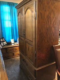 Oak Parker House Armoire