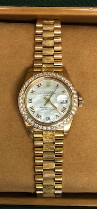 ROLEX Ladies President Datejust, all 18k Gold, Mother of Pearl and Diamond Dial, Diamond Bezel Costa Mesa, 92627