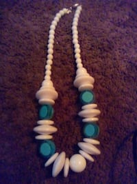 white and blue beaded necklace Edmonton, T5G 3A6