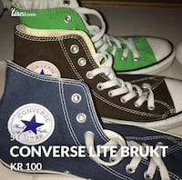 par sorte Converse All Star høy-top sneakers Flaktveit, 5134