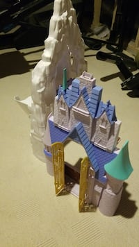 blue, white, and teal castle plastic toy Toronto, M2H 1J8