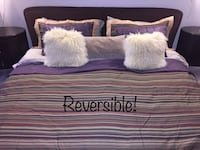 Reversible King duvet cover with 4 pillow shams Laval, H7X