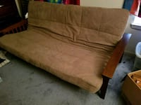 brown fabric sofa with throw pillows Rockville, 20850