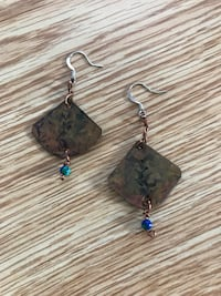 Copper Patina Earrings Montclair, 07042