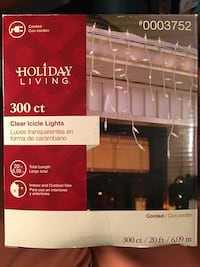 Holiday living 300 ct clear icicle lights 20 ft box Ames, 50014