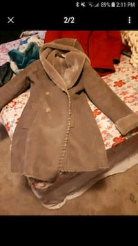 Beige real suade winter jacket Edmonton, T6H 0P2