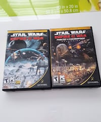 two Star Wars PC CD-ROM keep cases