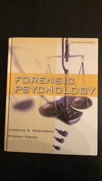 Forensic Psychology (1st Canadian Edition) - Hardcover Textbook Toronto