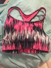 pink, black, and white racerback sports bra Nokesville, 20181