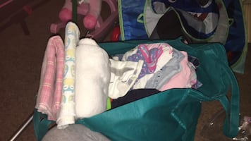 Giant bag full of baby and toddler boy and girl clothes 3 month - 3T and blankets