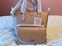 NWT Kate Spade Glitter Rose Gold Wallet was Tote Bundle Gift Toronto, M8Z 1T8
