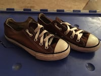 Pair of black converse all-star low-tops 1156 mi