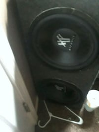 black and gray MTX Audio subwoofer Sherwood, 72120