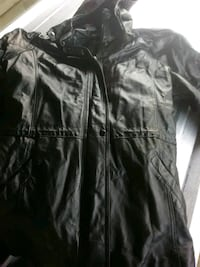 Ladies 3xl jacket leather with hood  Columbus, 31907