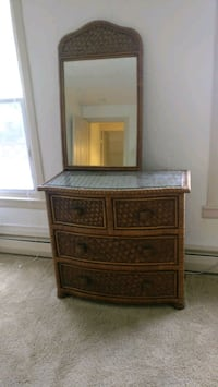 Wicker dresser with mirror and side table Pittsburgh, 15212