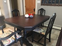 Antique table and 6 chairs  Shelburne, L9V
