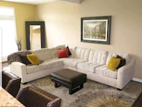 7 Person Tufted Cream Sectional Odenton