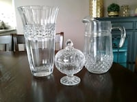 Vase, pitcher, candy dish and frame