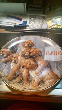 Franklin Mint Puppy Collector Plate Centreville, 20120