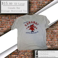 Vintage Canada Day Tee Pickering, L1X 2T9
